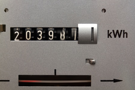 Fast counting electricity meter photo