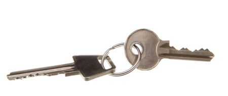 Two keys in a keyring photo