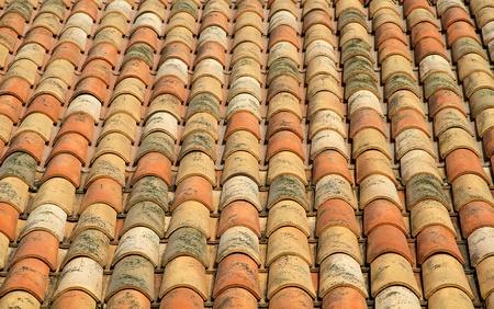 Old brick roof photo