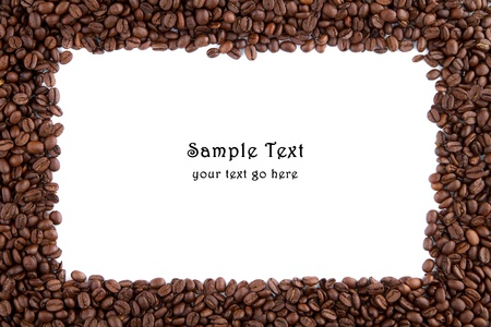 Coffee beans and square space for own text