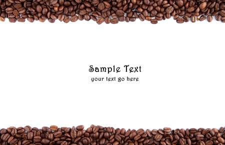 Kaffeebohnen und Raum für eigenen Text