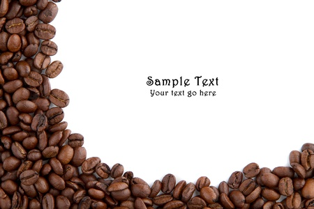 Coffee beans and round space for own text Stock Photo