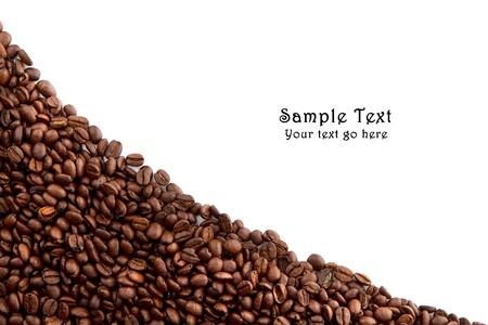 comida arabe: Los granos de caf� y el espacio para texto Foto de archivo