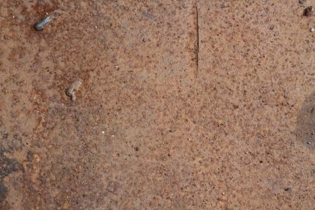 Closeup of old rusty metal surface