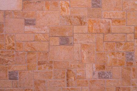 Red granite wall