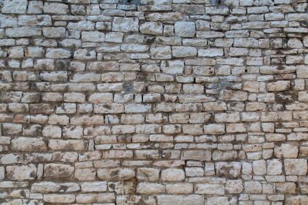 Old wall made of small bricks