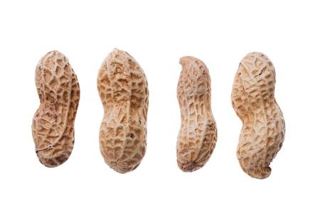 Line of peanuts