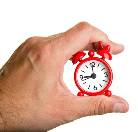 Alam clock in the palm