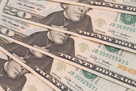 Closeup of several banknotes Stock Photo