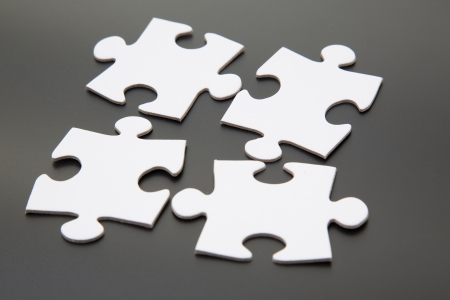 Matching jigsaw pieces photo