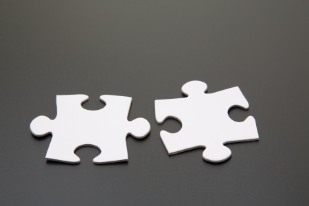 two matching jigsaw pieces photo