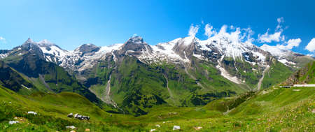 Beautiful panoramic view of the Austrien alps photo