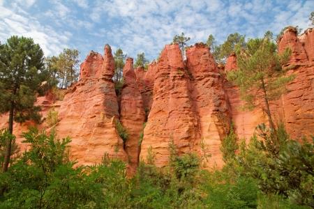 Ocher colored cliffs in Roussillon
