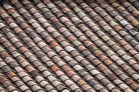 Old rustic tile roof