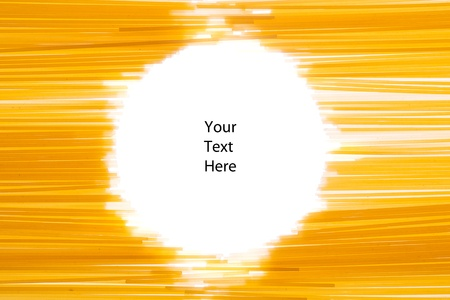 Spaghetti making a round aperture for your own text