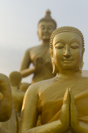 disciples: Buddha and disciples in the historical park, Thailand Stock Photo