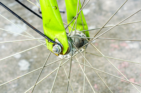 An image of the wheel of bycicle photo