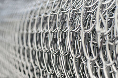 Close up of wire  mesh fence in roll