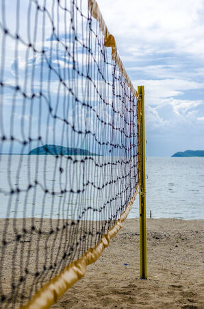 An image of net of volley ball on the beach photo