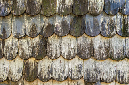 shingle: An image of old wooden shingle roof