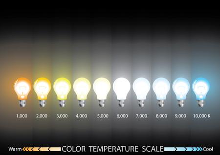 info graphics,  Light color temperature scale 矢量图像