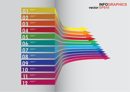 The 3D curved arrow which have spectrum color