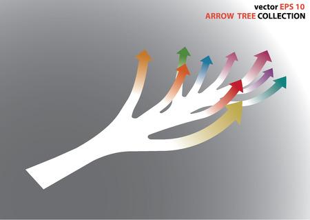 curve ahead sign: Vector EPS 10, color full arrow chart made like a tree