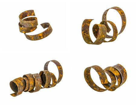 rust: Steel ribbon filled rust Stock Photo