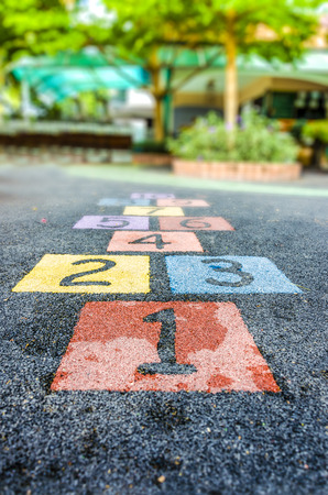 An image of colorful number on playground photo
