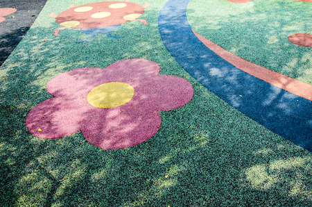 play ground: An image of colorful rubber floor in play ground