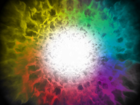 fire ball: Illustration abstract image of explosion spectrum color fire ball Stock Photo