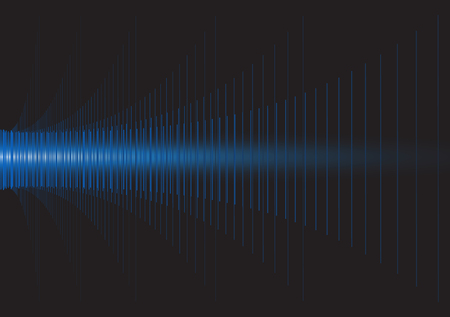 sonic: Vector,A lot of straight lines align to waveform on black background Illustration