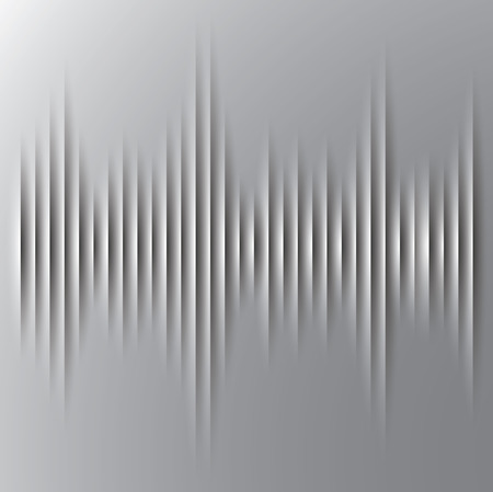 Vector, Cut paper sound wave background