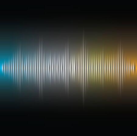 vibrations: Vector, Cut paper sound wave background