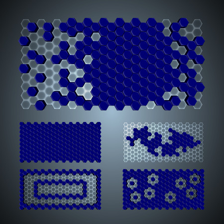 flexibility: Vector, 3Ds hexagon pattern,    files with high flexibility. You can create your own by remov objects out. Illustration