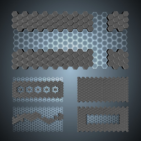 3ds: Vector, 3Ds hexagon pattern,    files with high flexibility. You can create your own by remov objects out. Illustration