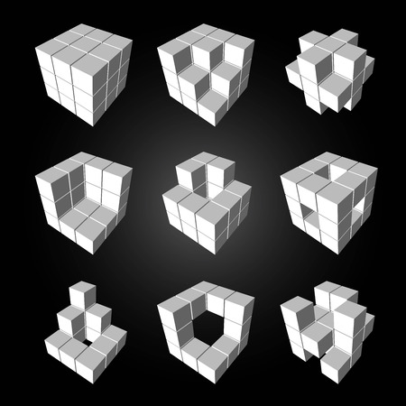 flexibility: Vector, 3Ds cubics pattern,    files with high flexibility. You can create your own by remove some block out.