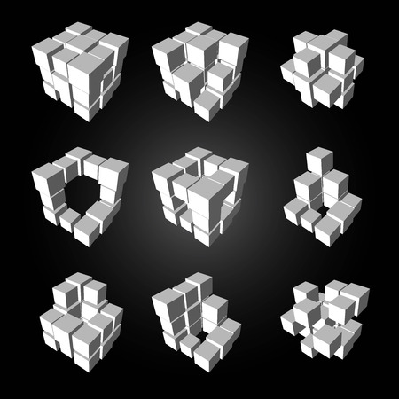3ds: Vector, 3Ds cubics pattern,    files with high flexibility. You can create your own by remove some block out.