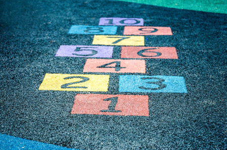 An image of colorful number on playground 免版税图像 - 43274774