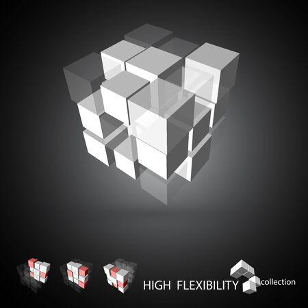 cubic: 3D cubic pattern