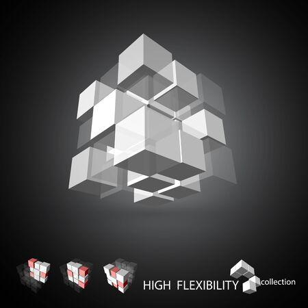 building block: 3D cubic pattern