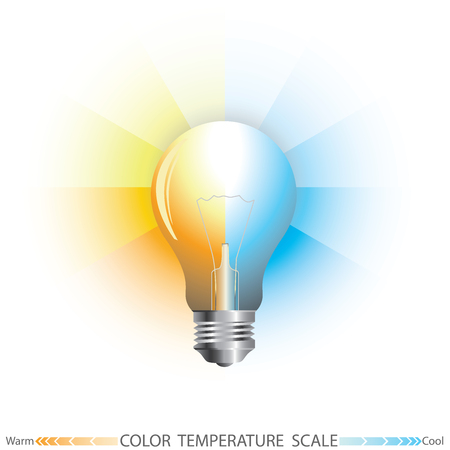 color scale: Light color temperature scale