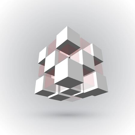 cubic: 3Ds cubic pattern Illustration