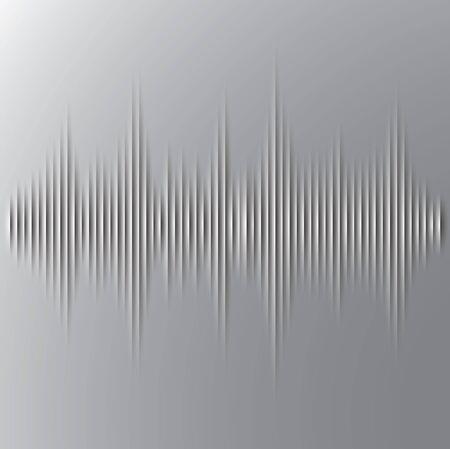 amplitude: Vector, Cut paper sound wave background