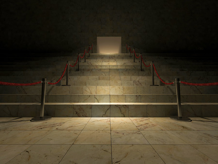3ds: 3ds rendered image of the marble stair Stock Photo