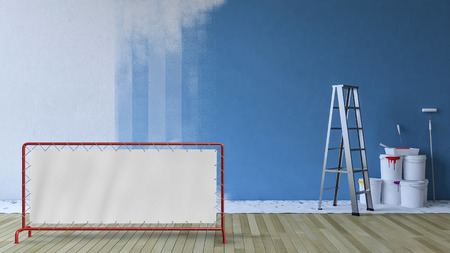 Sign mockup and underconstruction room