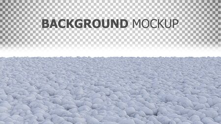 3d rendering image of white color rock garden with copy space and background mockup