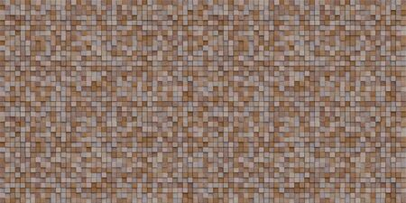 3d rendering image of a lot of cubic woods alligned to wall. Wall background. Seamless texture.