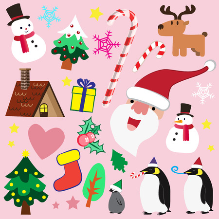 Cute Christmas theme element for multi purpose Vector