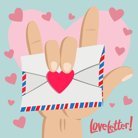 pinky: Love Letter with Love hand sign